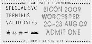 BiCon 2009 ticket