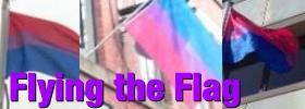 Bi flags around the UK